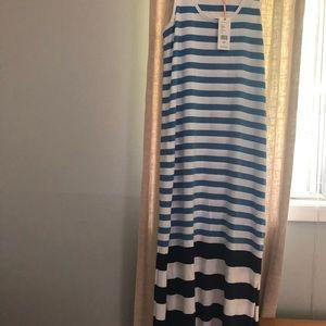 Vineyard vines maxi dress stripe blue xxs